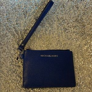 NWT Michael Kors Jet Set Blue  Leather Coin Purse